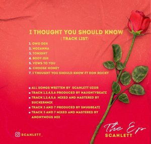 [Album] Scahlett — I thought you should know