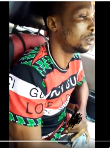 Nigerian taxi driver masturbates and ejaculates while carrying some women in his car (18+ video)