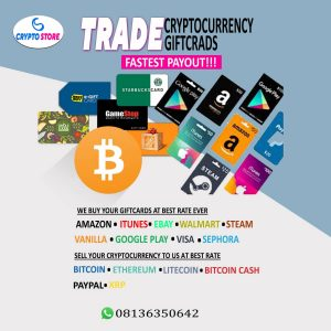 Trade your cryptocurrency with Crypto Store