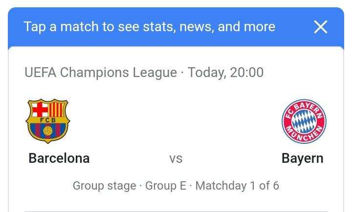LIVE STREAM: FC Barcelona vs Bayern Muchen (UCL) Watch Now